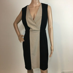 Calvin Klein Dress Color block M Work sheath shift